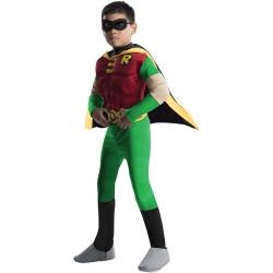 Fantasia Infantil Robin Jovens Teen Titans Luxo