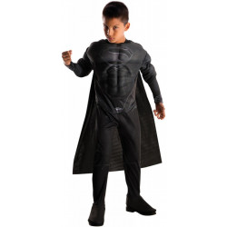 Fantasia Infantil Super Homem de Aço Preto