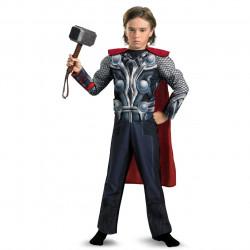 Fantasia Infantil Thor com Músculos e Luz no Peito Luxo