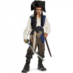 Fantasia Jack Sparrow Infantil Piratas do Caribe Luxo