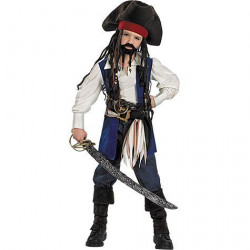 Fantasia Jack Sparrow Piratas do Caribe Infantil