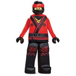 Fantasia Kai Ninjago Lego Luxo Infantil Filme