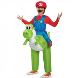 Fantasia Mario e Yoshi Infantil Inflável