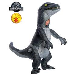Fantasia Mundo Jurássico Reino Caído Velociraptor Infantil Inflável