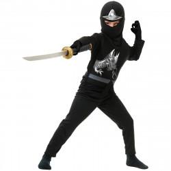 Fantasia Ninja Avenger Infantil Preto