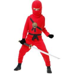 Fantasia Ninja Infantil Vermelho
