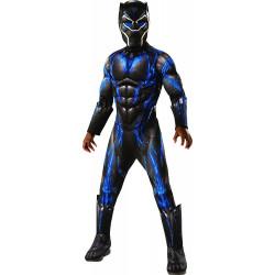 Fantasia Pantera Negra Azul Infantil Luxo