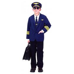 Fantasia Piloto de Avião Infantil Luxo