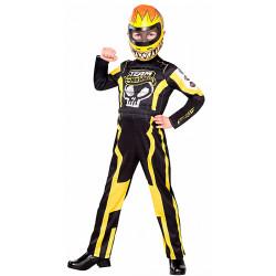 Fantasia Piloto de Corrida Hot Wheels Amarelo