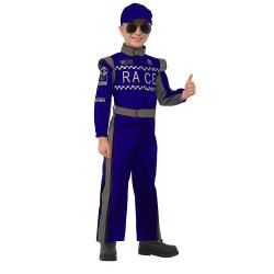Fantasia Piloto de Corrida Race Clássica Azul