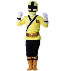 Fantasia Power Rangers Amarelo Luxo Infantil Adolescente