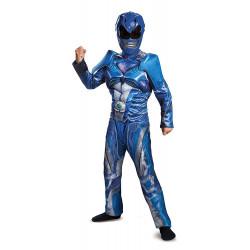 Fantasia Power Rangers Azul Filme Músculos Infantil