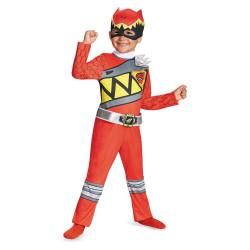 Fantasia Power Rangers Dino Charger Vermelho Infantil Clássica