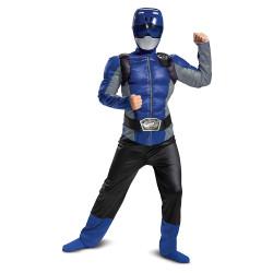 Fantasia Power Rangers Morfador Azul Luxo Infantil
