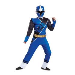 Fantasia Power Rangers Ninja Azul Luxo Infantil