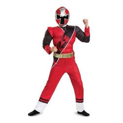 Fantasia Power Rangers Ninja Vermelha Luxo infantil