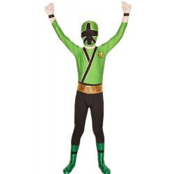 Fantasia Power Rangers Verde Infantil Adolescente