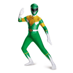 Fantasia Power Rangers Verde Luxo Infantil Adolescente