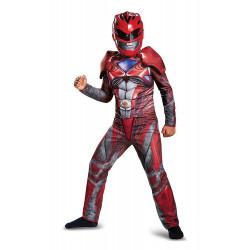 Fantasia Power Rangers Vermelha Filme Músculos Infantil