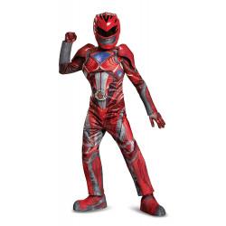 Fantasia Power Rangers Vermelha Filme Músculos Infantil Elite