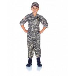 Fantasia Soldado do Exército US Americano Infantil