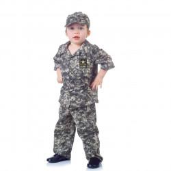 Fantasia Soldado do Exército US Americano Infantil Clássica