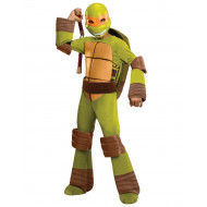 Fantasia Tartarugas Ninja Infantil Luxo Michelangelo com Músculos