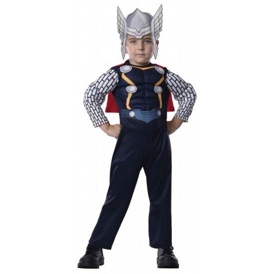 Fantasia Thor com Músculos Os Vingadores Assemble Infantil Completo