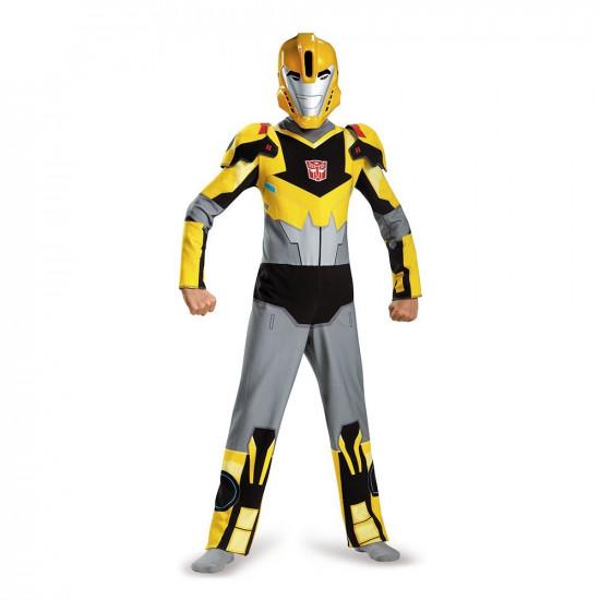 Fantasia Transformers Animado Bumblebee Infantil Clássica Luxo