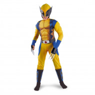 Fantasia X Men Wolverine Infantil Luxo com Músculos