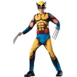 Fantasia X Men Wolverine Infantil Luxo Musculoso