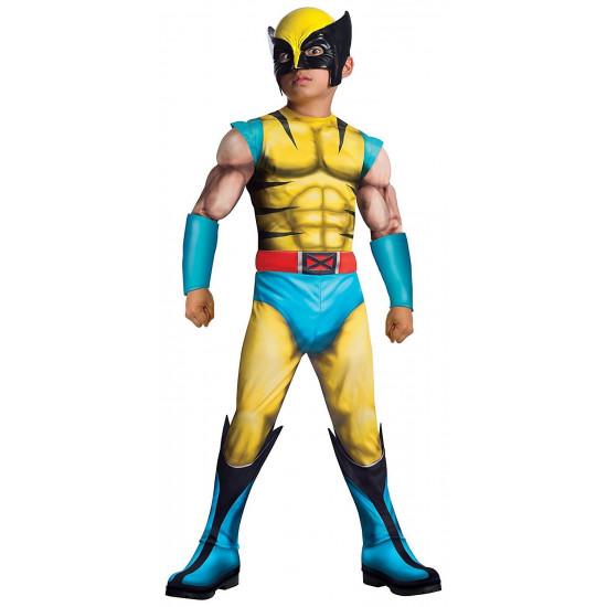 Fantasia X Men Wolverine Luxo com Músculos Infantil