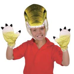 Máscara e Luvas de Dinossauro T-Rex
