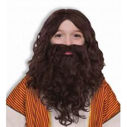Peruca Barba e Bigode de Jesus Infantil