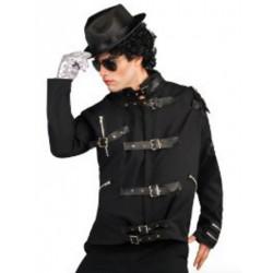 Jaqueta Michael Jackson Preta Adulto