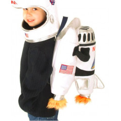 Fantasia Astronauta Nave Espacial Luxo Mochila