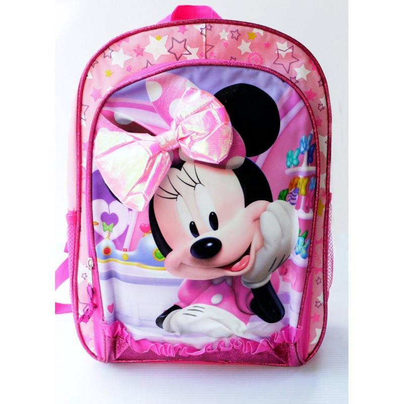 21be6b695 Mochila Lancheira Minnie Disney