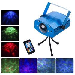 Projetor de Luz Laser LED com 7 cores Iluminação de Ondulações de Água