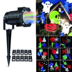 Projetor de Luz Laser Led Festas com 10 Motivos Coloridos