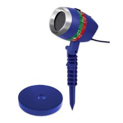Projetor de Luz Laser Natalina Vermelho e Verde com Movimento 6 Temas