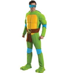 Fantasia Tartarugas Ninja Adulto Luxo Leonardo com Músculos