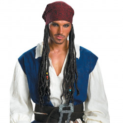 Bandana e Tranças Adulto Piratas do Caribe Jack Sparrow