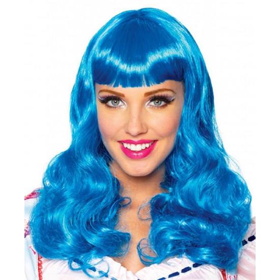 Peruca Adulto Azul Katy Perry Clássica