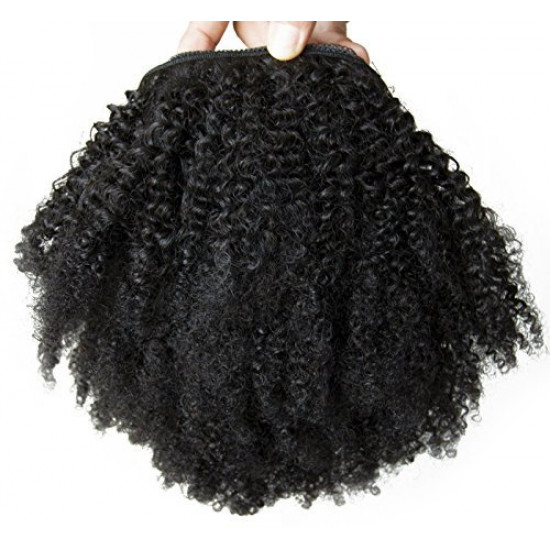 Peruca Afro Cabelo Humano Remy 25cm