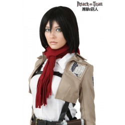 Peruca Attack on Titan Mikasa Adulto Luxo