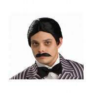 Peruca e Bigode Adulto Família Addams Gomez