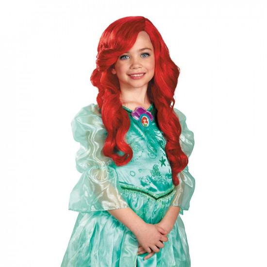 Peruca Pequena Sereia Ariel Infantil Luxo