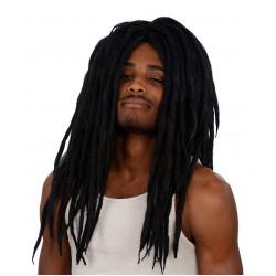 Peruca Rastafari Castanho Adulto