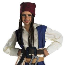 Piratas do Caribe Jack Sparrow Bardana e Tranças