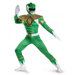 Fantasia Adulto Power Ranger Verde Luxo